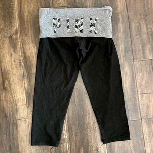 PINK Victoria's Secret crop yoga pants bling xs
